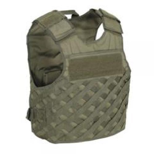 F.A.S.T. Vest with new Universal Lattice Molle by Voodoo Tactical in Sabotage