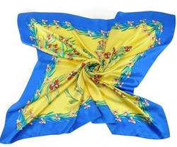 Hot Stamping Flower Silk Square Scarf Neckerchief by Efreewd in Pitch Perfect