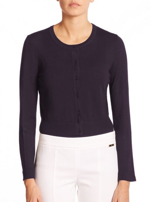Merino Wool Cardigan by Tory Burch in Supergirl