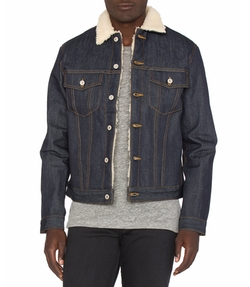 Sherpa Jacket by Naked & Famous Denim in Lethal Weapon