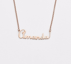 Personalized Script Name with Heart Necklace by Argento Vivo in Pretty Little Liars