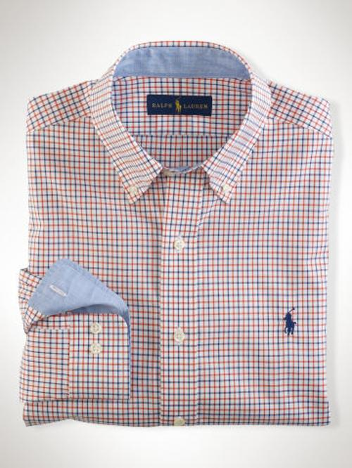 Non-Iron Tattersall Shirt by Ralph Lauren Polo Golf in Mortdecai