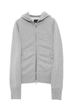 Zip Hooded Sweatshirt by Wings + Horns in Fifty Shades of Grey