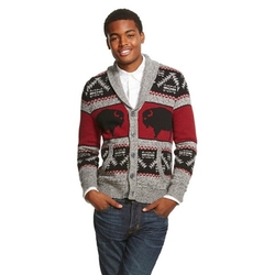 Shawl Collar Cardigan Sweater by Mossimo Supply Co. in Black-ish