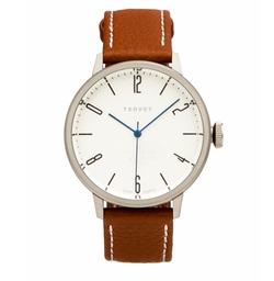 Leather Strap Watch by Tsovet in Gold