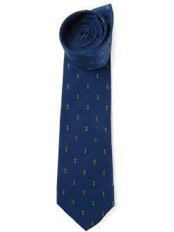 Pattern Jacquard Tie by Jean Louis Scherrer Vintage in Unfinished Business