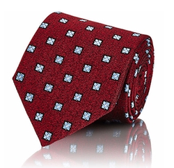 Floral-Medallion Jacquard Necktie by Ermenegildo Zegna in War Dogs