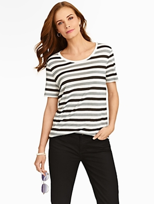 Park Place Stripes T-Shirt by Talbots in Clueless