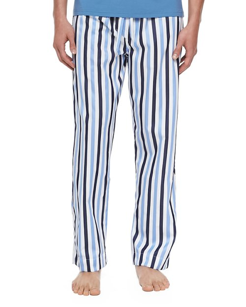 Windsor Striped Pajama Pants by Derek Rose in Sex and the City 2