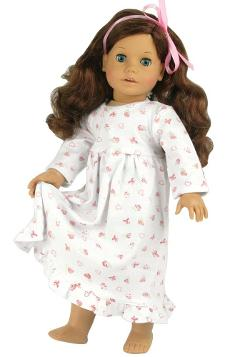 Dolls Nightgown fits American Girl Dolls by Sophia's in Ouija