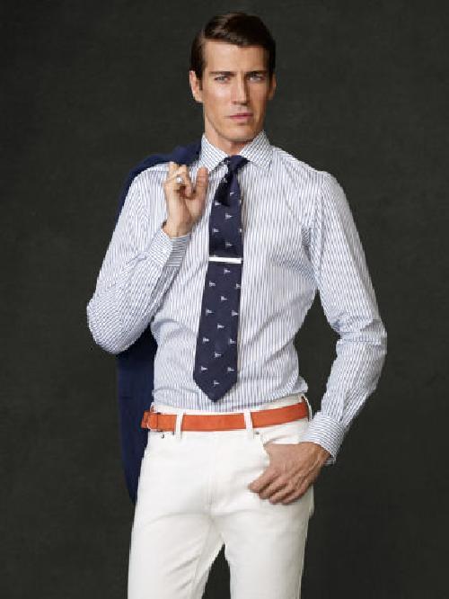 Striped Aston Dress Shirt by Ralph Lauren in The Wolf of Wall Street