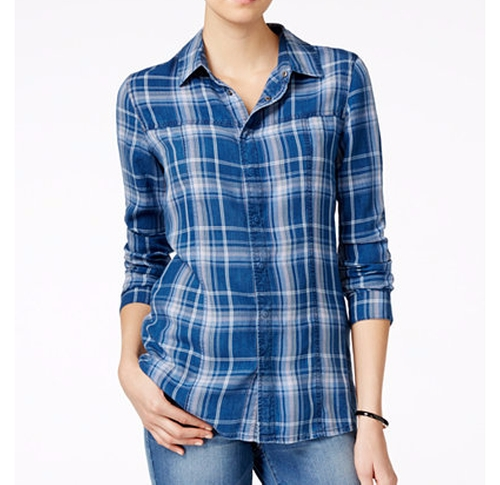 Britt Plaid Button-Down Shirt by Hudson Jeans in Animal Kingdom - Season 1 Episode 10