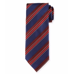 Satin Stripe Silk Tie by Brioni in House of Cards