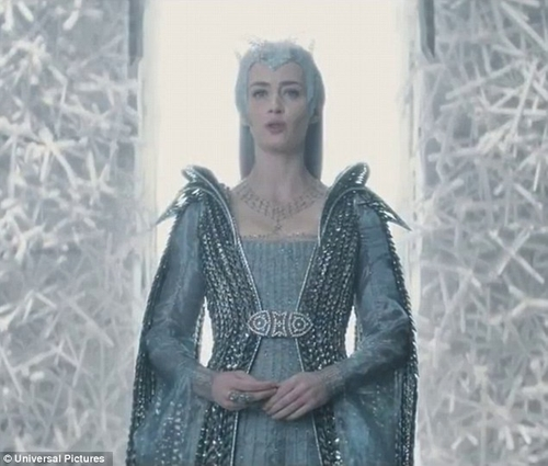Custom Made 'Freya' Ice Queen Royal Dress by Colleen Atwood (Costume Designer) in The Huntsman: Winter's War