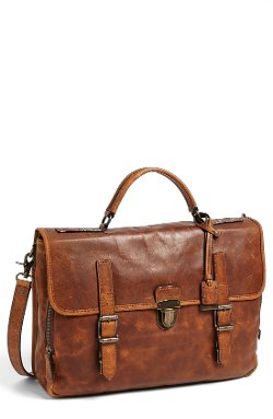 'Logan' Leather Buckle Briefcase by Frye in Shutter Island