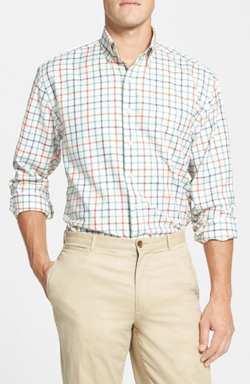 'Pine Rock Tattersall' Classic Fit Sport Shirt by Vineyard Vines in If I Stay