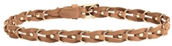 Brown Chain Link Leather Belt by Linea Pelle in Pitch Perfect 2