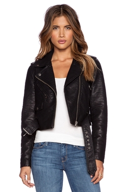 City Moto Vegan Leather Jacket by Obey in The Vampire Diaries