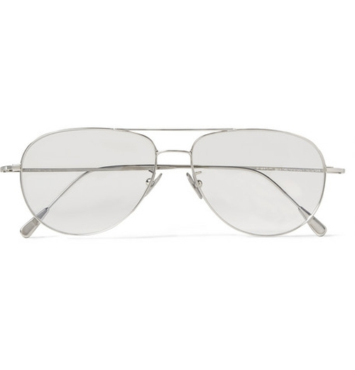 Palladium-Plated Aviator Optical Glasses by Cutler and Gross in The Mindy Project