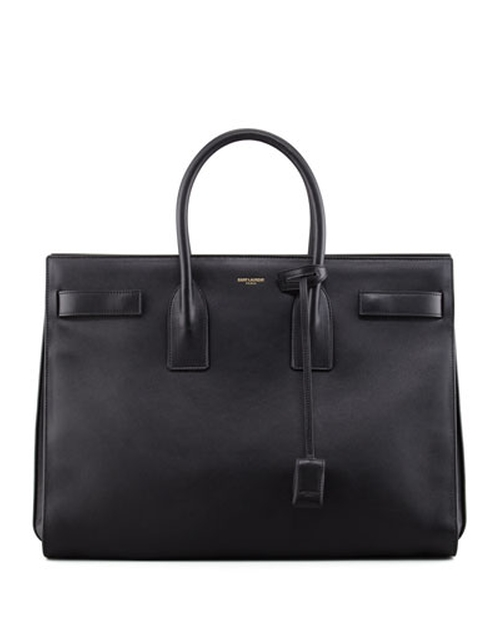 Classic Sac De Jour Leather Tote Bag, Black by Saint Laurent in Suits - Season 5 Episode 9