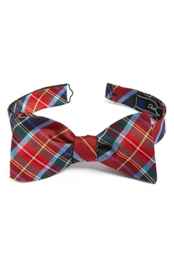 Plaid Silk Bow Tie by David Donahue in Scream Queens