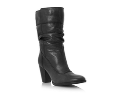 Slouchy Block Heel Leather Calf Boots by Dune London in Pretty Little Liars
