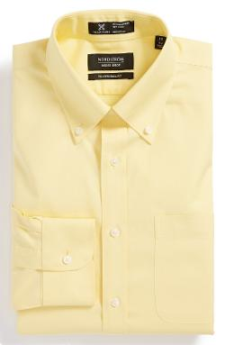 Smartcare Wrinkle Free Traditional Fit Pinpoint Dress Shirt by Nordstrom in Neighbors