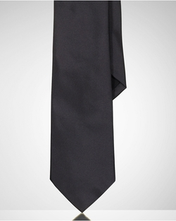 Solid Peau De Soie Tie by Ralph Lauren in Survivor