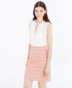 Petite Abstract Diamond Pencil Skirt by Ann Taylor in Supergirl