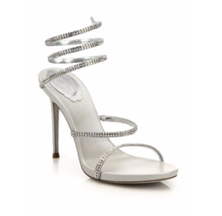 Leather Crystal Swirl Sandals by Rene Caovilla in Fifty Shades Darker