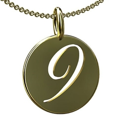 Number Nine 9 Charm Pendant Necklace by PPLuxury in Ballers