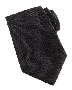 Waffle-Knit Silk Tie by Giorgio Armani	 in The Age of Adaline