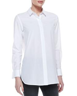 Daithi Button-Down Blouse by Theory in Kingsman: The Secret Service