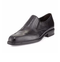 Leather Plain-Toe Loafer Shoes by A. Testoni in How To Get Away With Murder