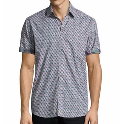 Continuum Short-Sleeve Sport Shirt by Robert Graham in Shadowhunters