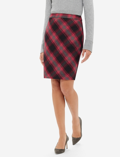 Soft Plaid Pencil Skirt by The Limited in The Intern