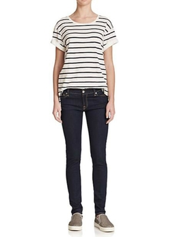 Feeder Striped Cotton Jersey Shirt by Vince in Trainwreck
