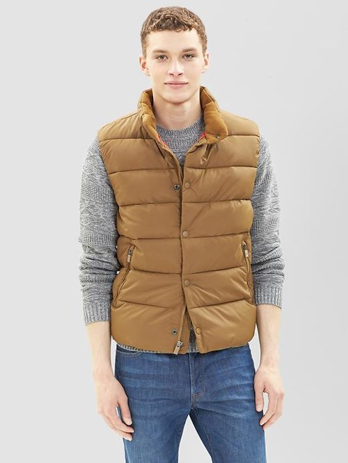 Luxe Puffer Vest by Primaloft in The Secret Life of Walter Mitty