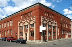 Portland, Oregon by Yale Union Laundry Building in Twilight