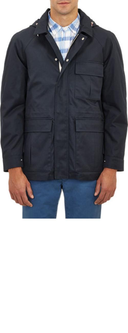 Hooded Field Jacket With Zip-Off Lining by Brooklyn Tailors in Mortdecai