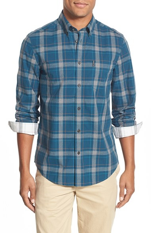 Trim Fit Check Woven Shirt by Ben Sherman in How To Be Single