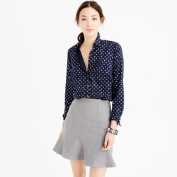 Perfect Shirt In Foil Dot by J. Crew in New Girl