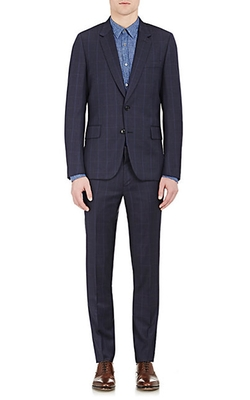 Windowpane-Checked Soho Suit by Paul Smith Exclusive in Billions