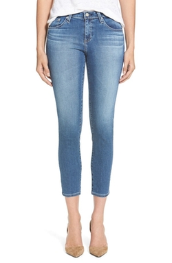 'The Stilt' Crop Skinny Jeans by AG in Sisters