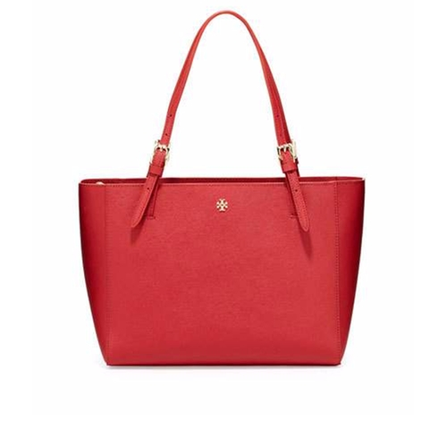 York Small Saffiano Tote Bag by Tory Burch in La La Land