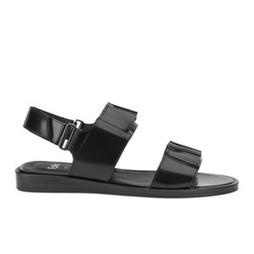 Lore Ruffle Leather Sandals by Folk in Bridesmaids