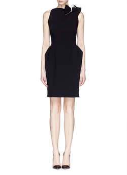Bow Shoulder Wool Crepe Dress by Lanvin in Suits