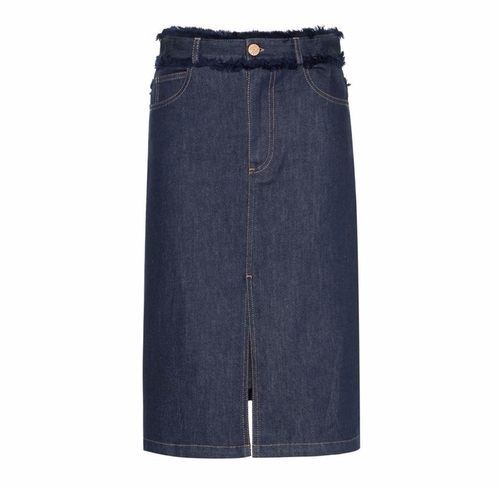 Frayed Denim Skirt by See by Chloé in Scream Queens