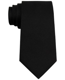 New Deal Solid Slim Tie by DKNY in Focus