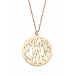 Personalized 3-Letter Monogram Necklace by Argento Vivo in Girls Trip